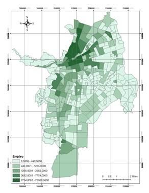 Distribución espacial del empleo