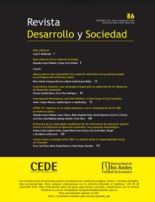 Revista Desarrollo y Sociedad - Número 86, octubre 2020
